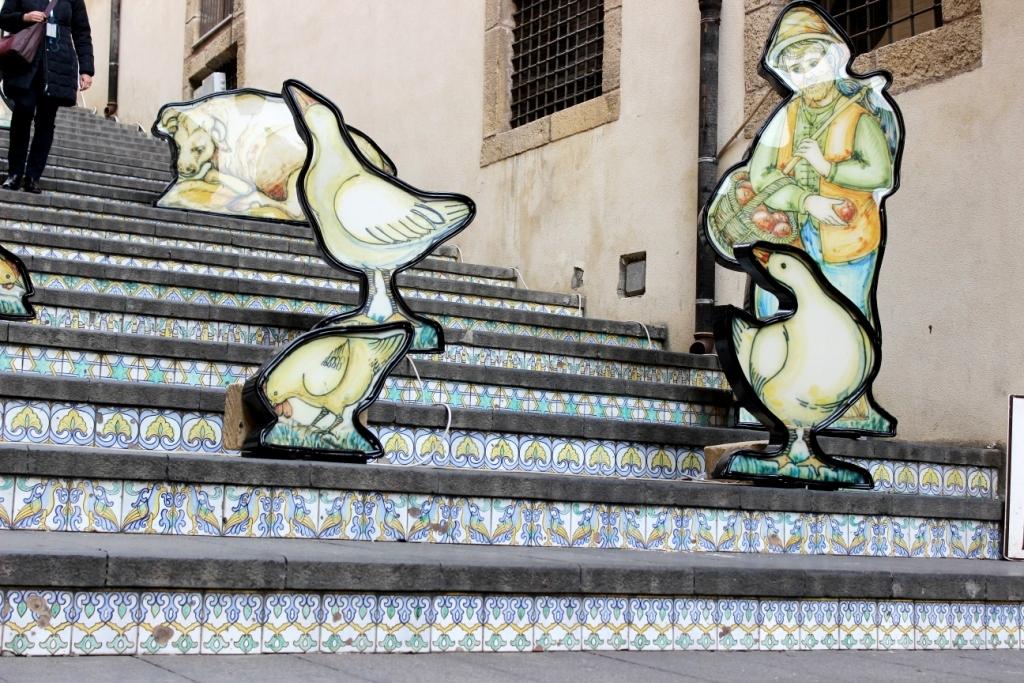 Sicilia orientale: caltagirone la città della ceramica alla
